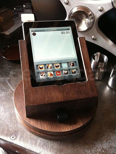 Here  is the iPad at SightGlass using Square